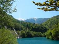 赤石ダムと赤石岳