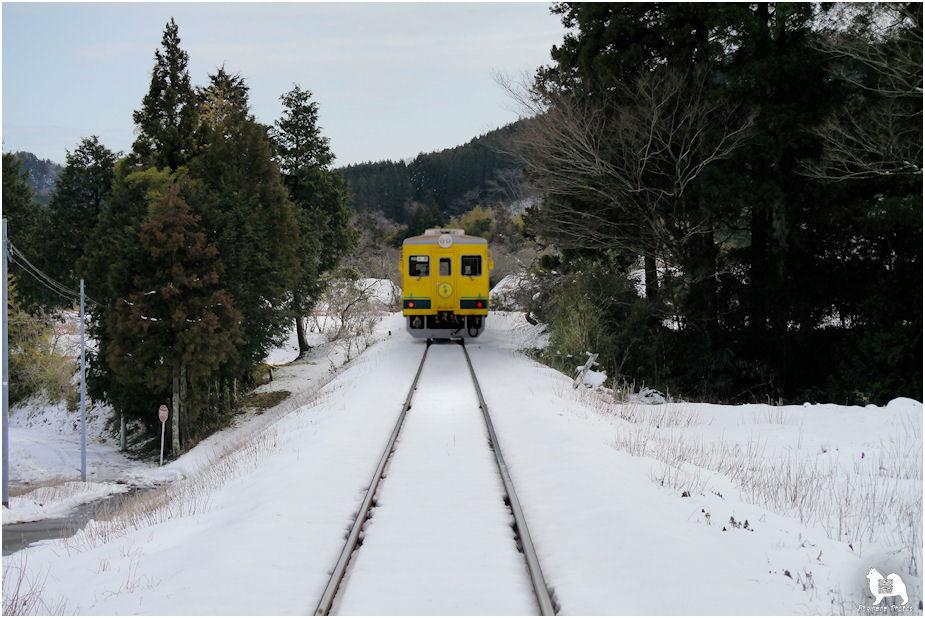 雪の日のいすみ鉄道