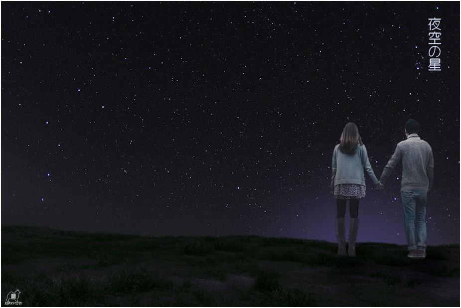 夜空の星♪