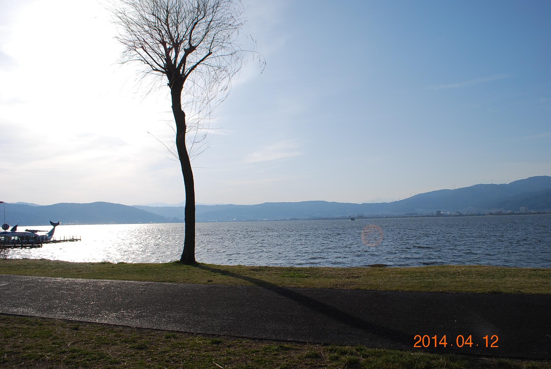 諏訪湖 夕景