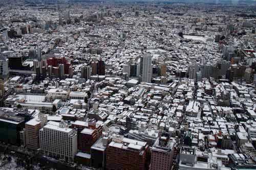 東京雪景色900