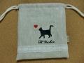猫のシルエット刺繍2