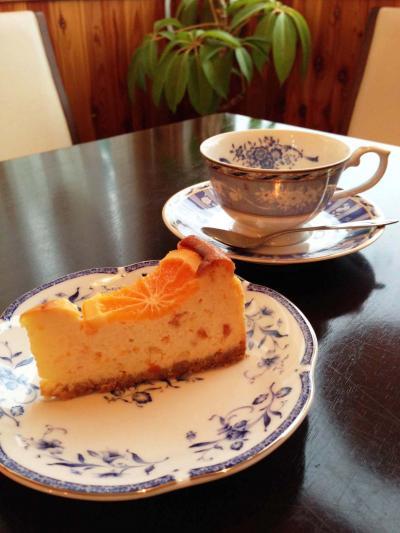 orange cheese cake set