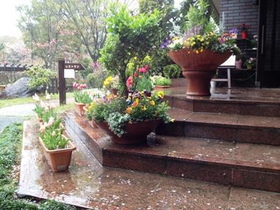 雨の花やしき