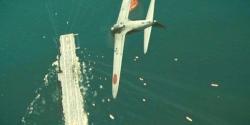 機体を反転させ、アメリカ空母に最後の突撃をしていく宮部機