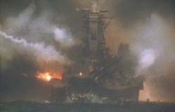アメリカの攻撃を必死に耐える戦艦大和