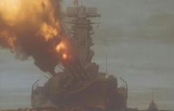 砲口する戦艦・大和