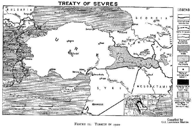 セーブル条約の地図原本(1920)