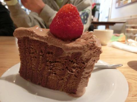 チョコケーキカット