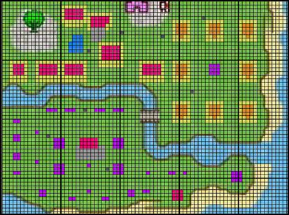 オオカミ村完成図