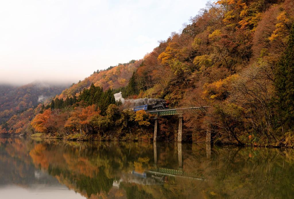 磐越西線 C57180 徳根・大巻橋梁