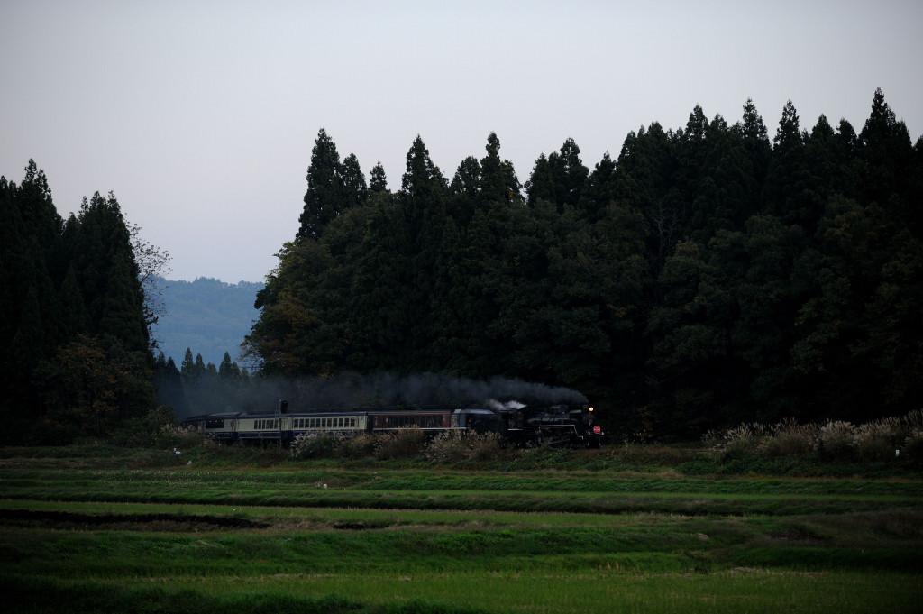 磐越西線 C57180 野沢ROOT49オーバークロス