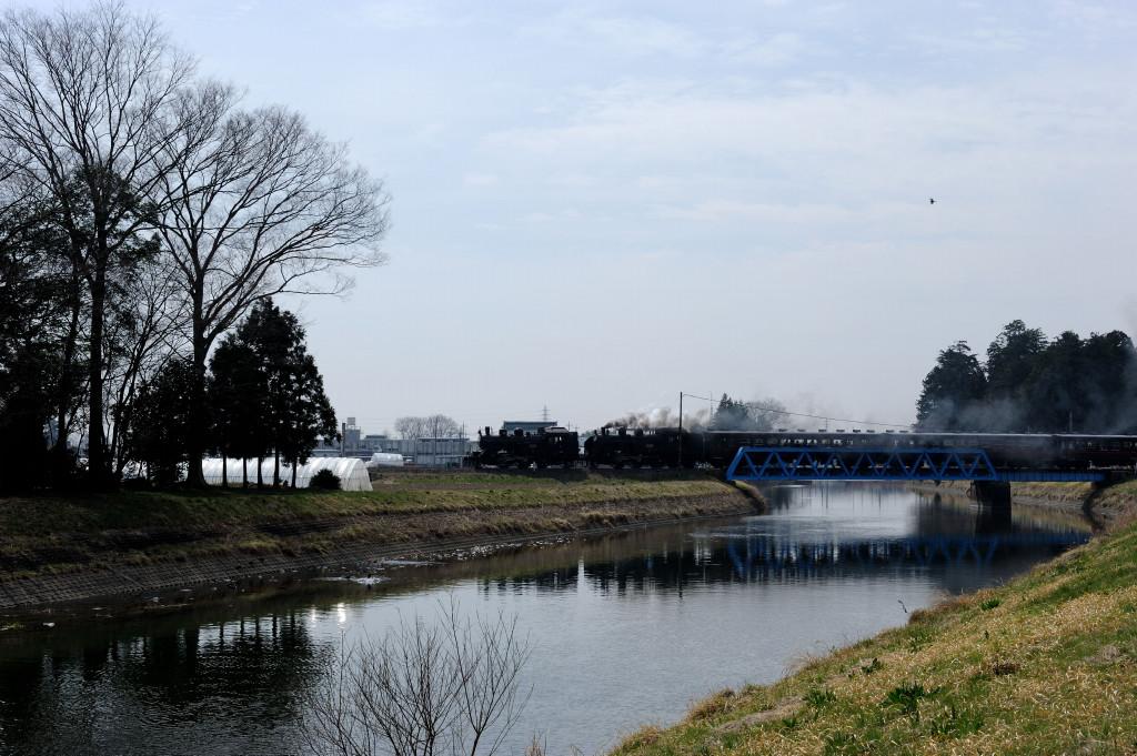 真岡鉄道 C1266+C11325 五行川