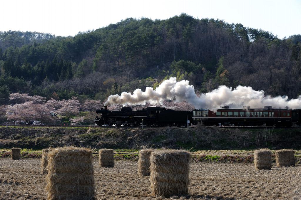 磐越西線 C57180 舞台田第二踏切