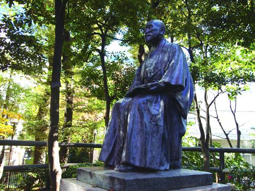 高橋是清大蔵大臣の私邸跡にある銅像