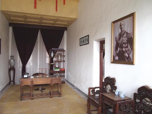 華清地・司令部にある蒋介石の執務室