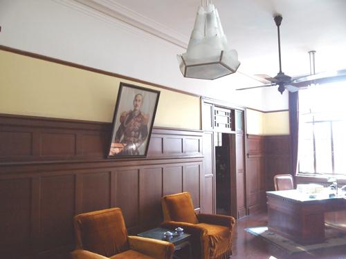 総統府(国民党本部)にある蒋介石の執務室