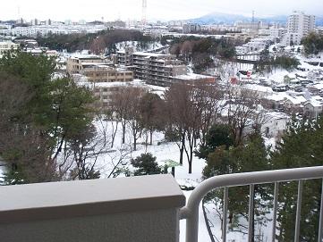 ベランダからみた雪景色