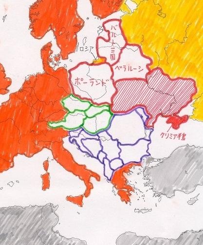 東ヨーロッパの地域区分