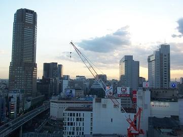 ヒカリエからみた渋谷
