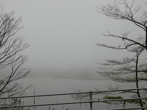霧の霊仙寺湖
