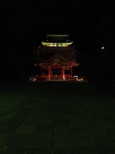 夜の鶴岡八幡宮