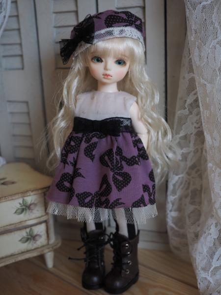 幼SD 「春のお散歩」 紫に黒リボン 2