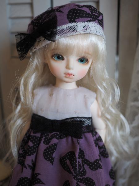 幼SD 「春のお散歩」 紫に黒リボン 3