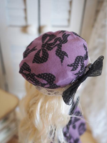 幼SD 「春のお散歩」 紫に黒リボン 4