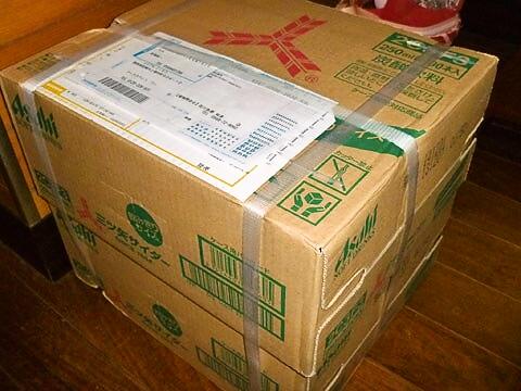 アサヒ飲料の「三ツ矢サイダー」 ダンボール箱