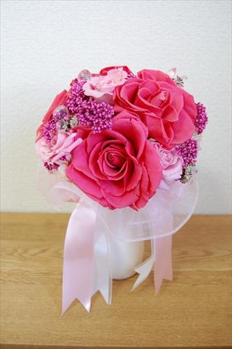 【ブーケ】濃淡ピンクのブーケ