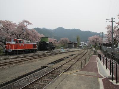 若桜駅構内