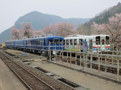 若桜駅の客車