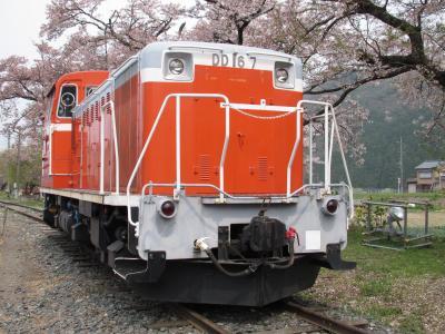 若桜駅のディーゼル機関車