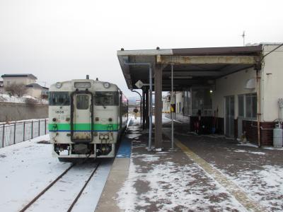 江差駅ホーム1