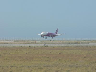 ピーチ飛行機着陸1