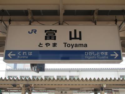富山駅看板