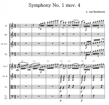 Beethoven Sym 1 4th mov urtext