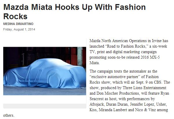 mazda MX-5 fashion rocks