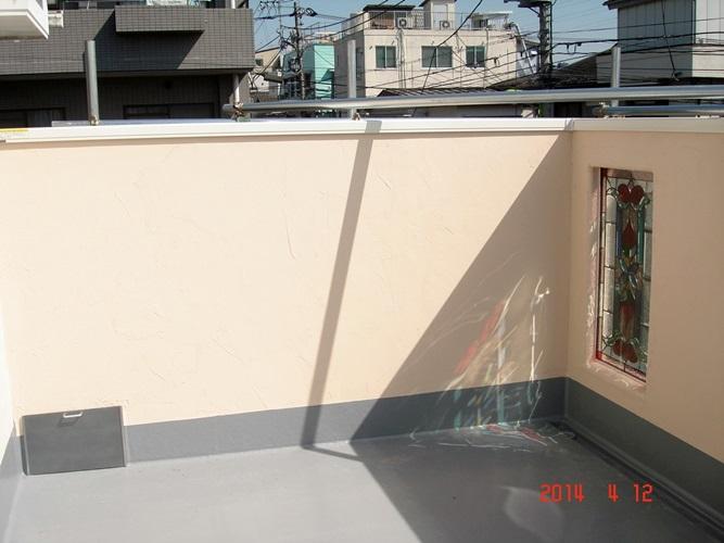 5-1_バルコニー 塗り壁1