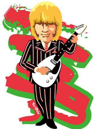 Brian Jones Rolling Stones caricature