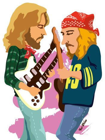 Eagles Joe Walsh Don Felder caricature