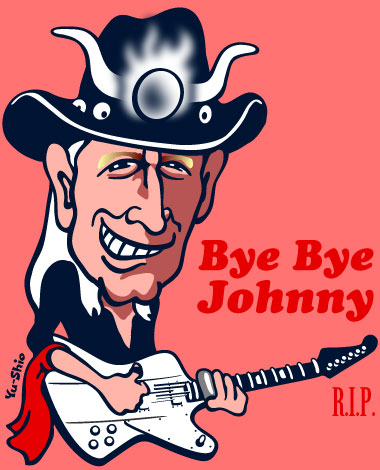 Johnny Winter caricature