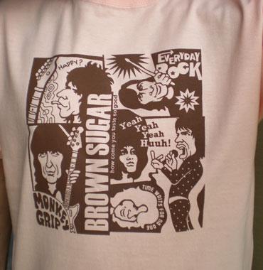 EverydayRock T Shirt Rolling Stones Caricature