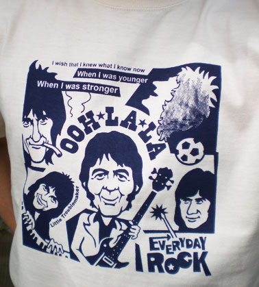 EverydayRock T Shirt Small Faces Ronnie Lane Rod Stewart Ian McLagan Kenny Jones caricature