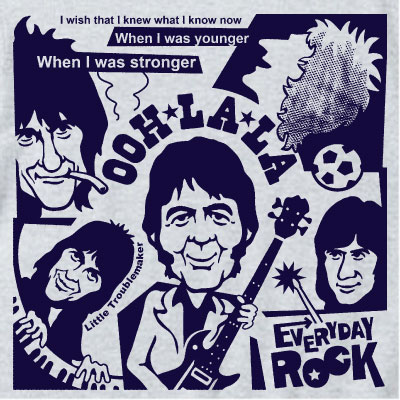 EverydayRock T Shirt Faces Ronnie Lane Caricature