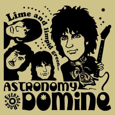 EverydayRock T Shirt Pink Floyd Syd Barrett caricature