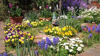s-春の庭にて