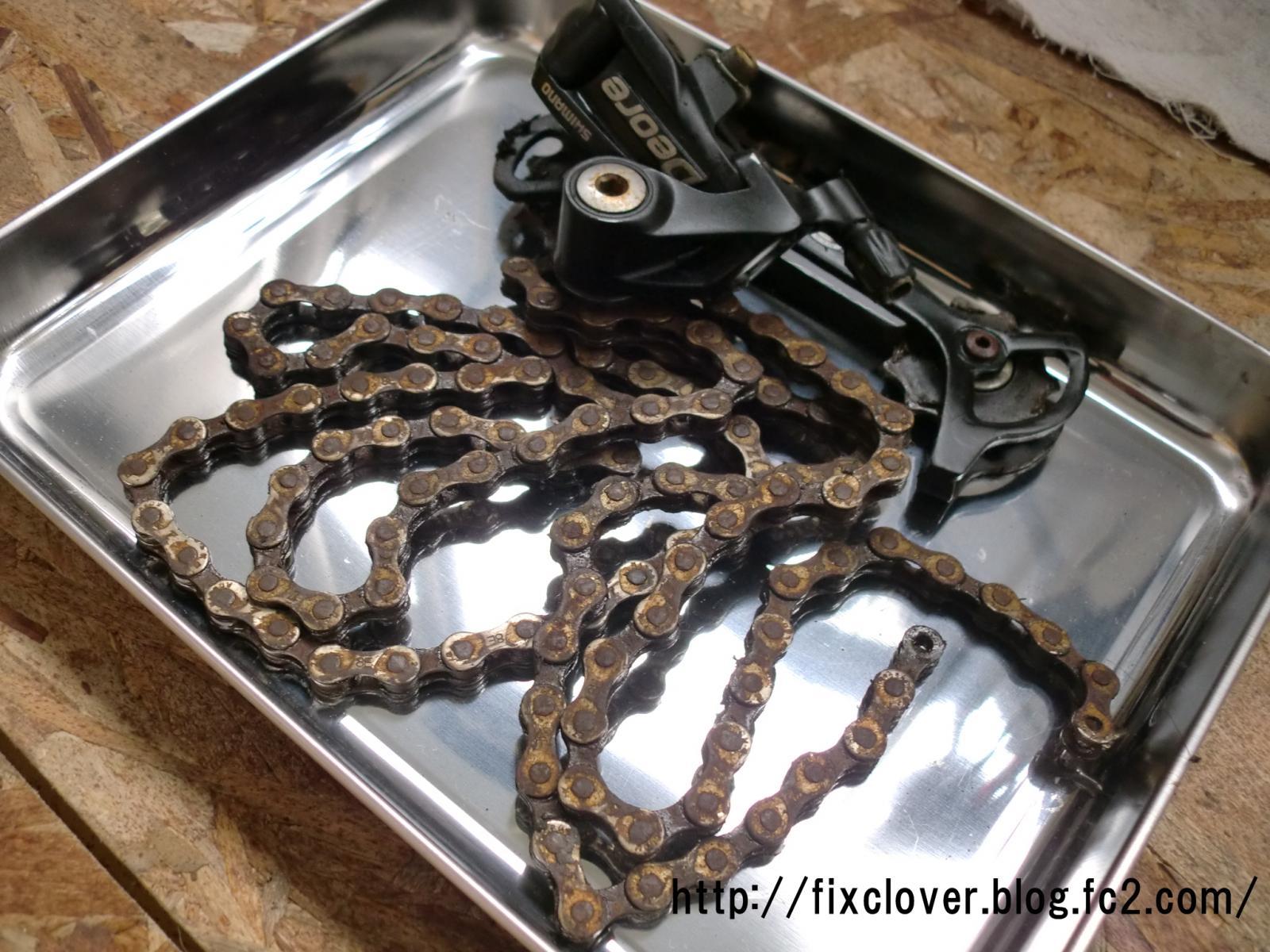 自転車の 自転車 チェーン サビ 油 : チェーンとスプロケットは洗浄 ...