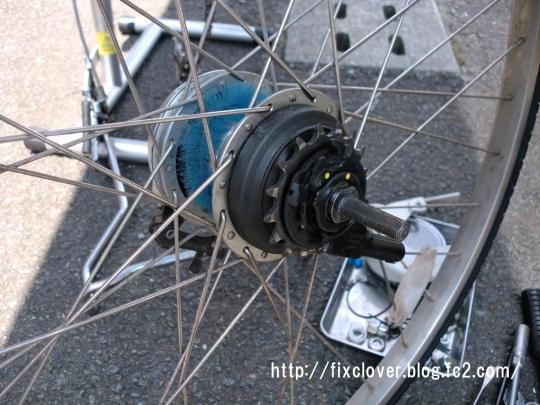 自転車の 自転車 シマノ 変速機 修理 : 内装3段ギアですが、プッシュ ...